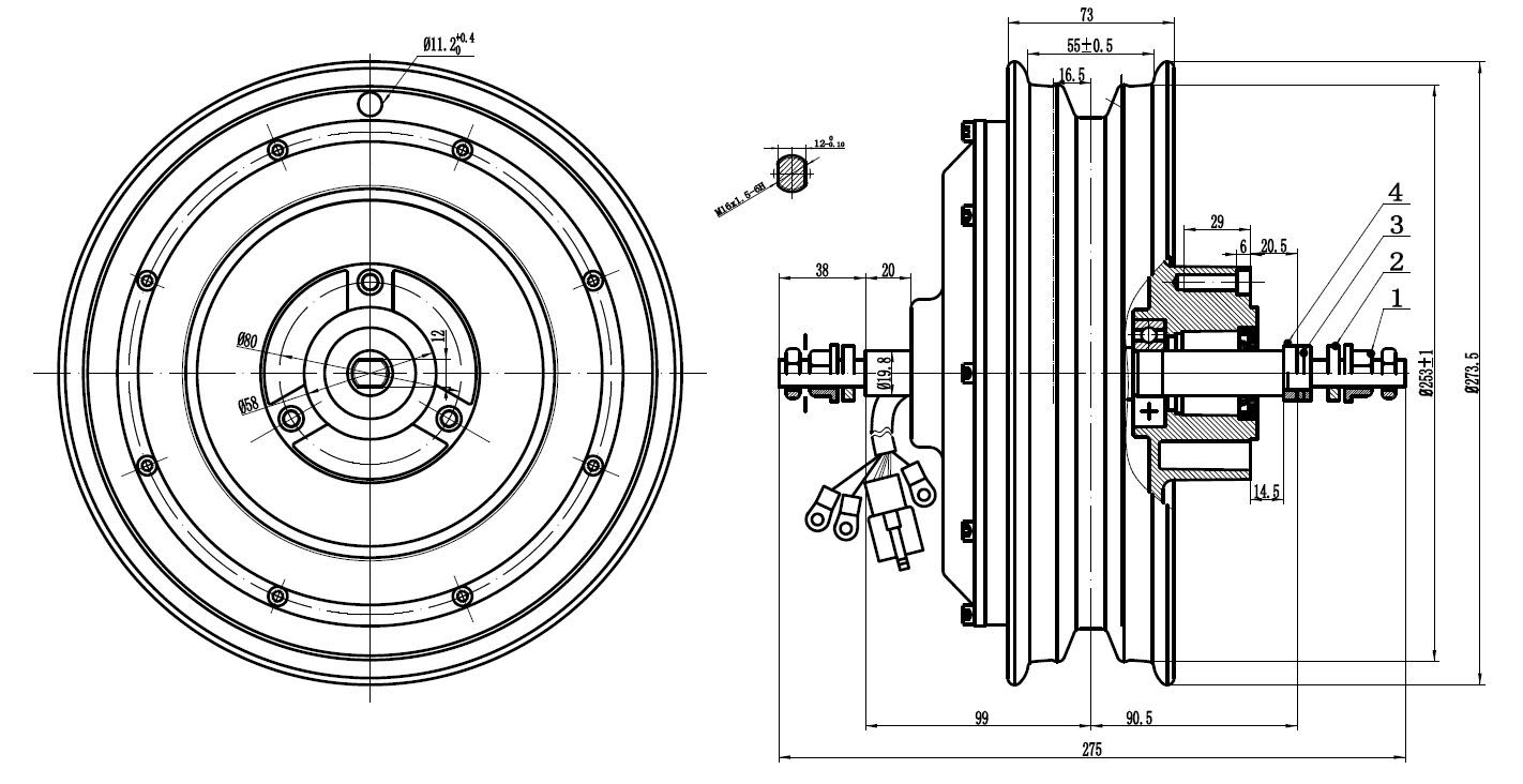 hub motor for electric bike  motorcycle  scooter and tricycle